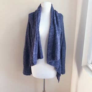 Mudd High Low Shawl Cardigan in Purple
